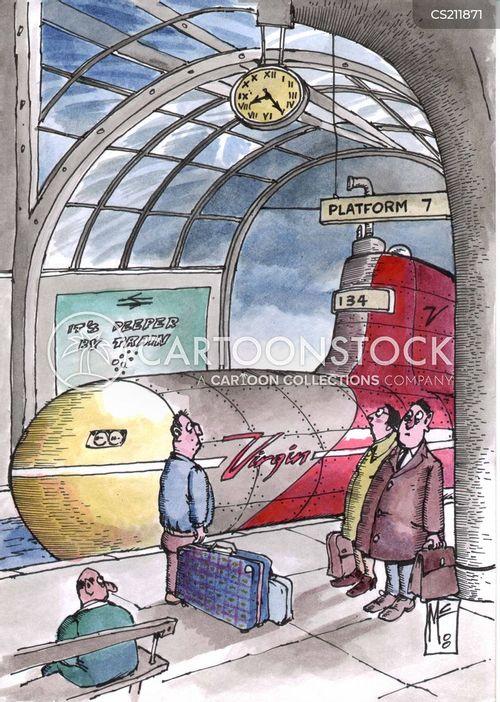 virgin trains cartoon