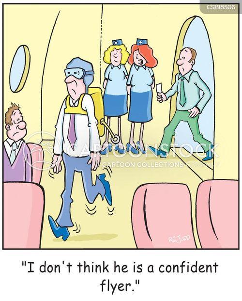 air traveller cartoon