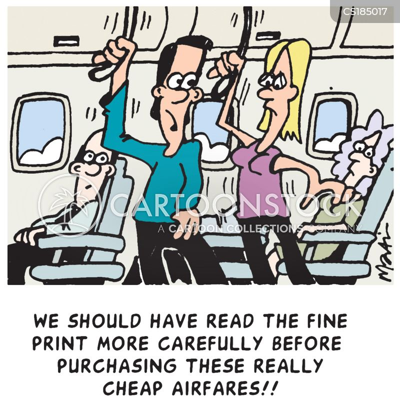 air travelling cartoon