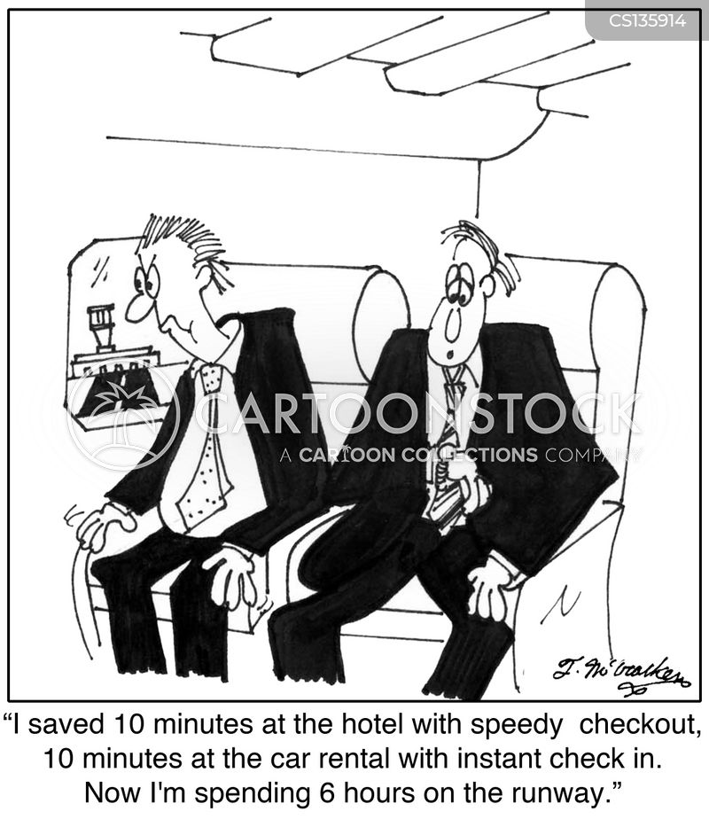 flight delay cartoon