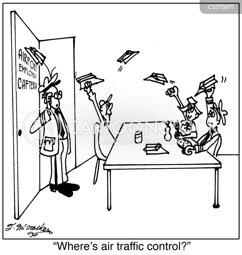 air traffic controller cartoon