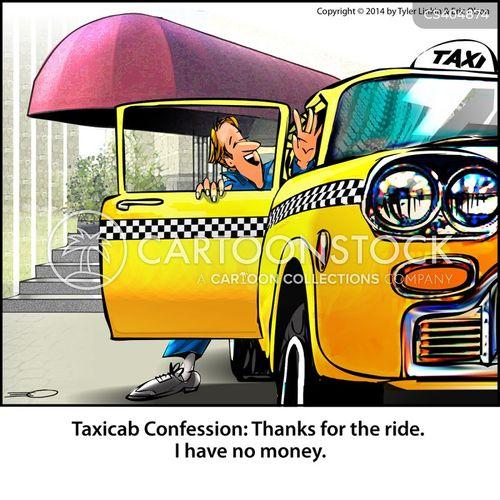 Taxi Fares Cartoon 4 of 9