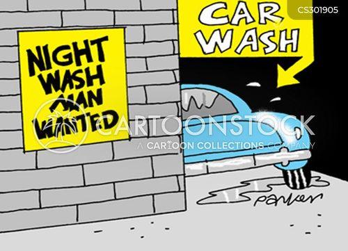 clean car cartoon