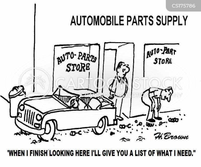 auto parts cartoon