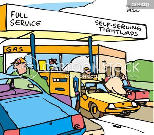 refilling station cartoon