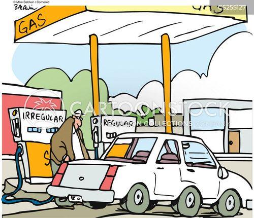 pumping gas cartoon