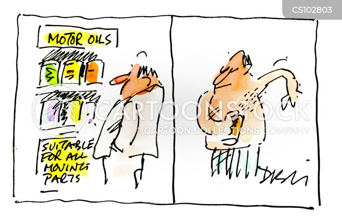 oiling cartoon