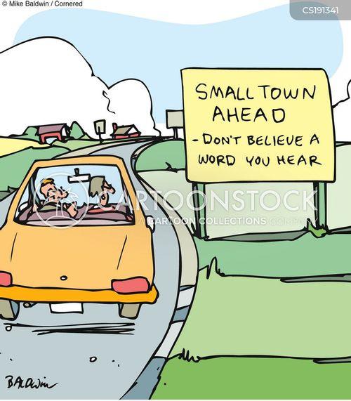 small town cartoon