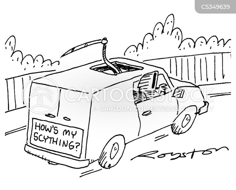 hows my driving cartoon