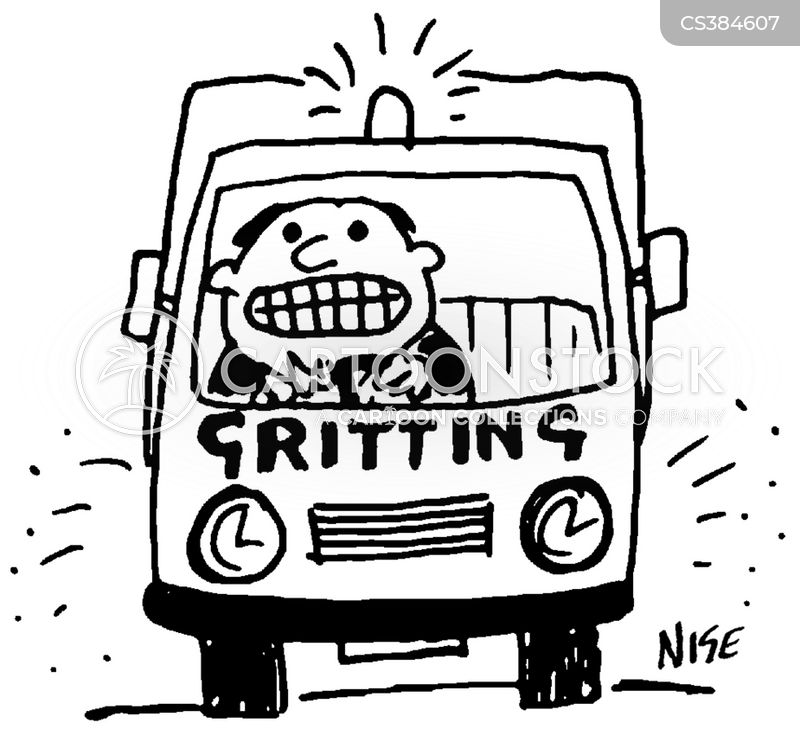gritting teeth cartoon