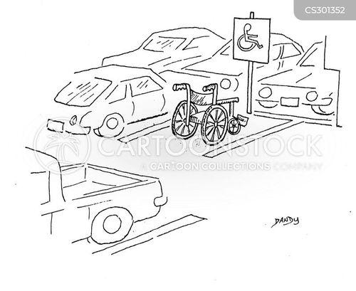handicapped cartoon
