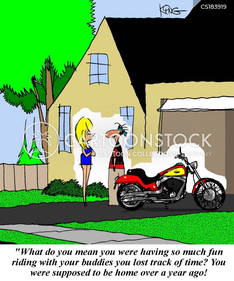 biking cartoon