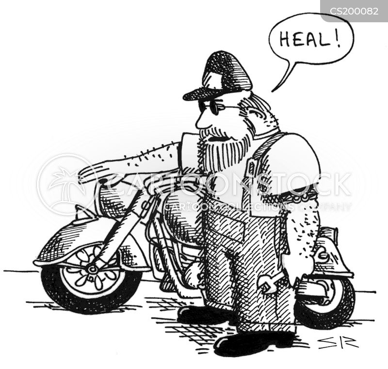 funny old motorcycle pictures  Old Style Cartoons and Comics - funny pictures from CartoonStock