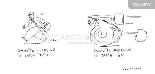 commuter train cartoon