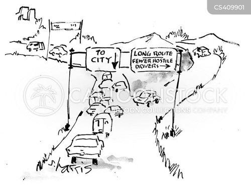 scenic routes cartoon