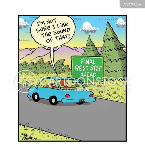 road-trip cartoon