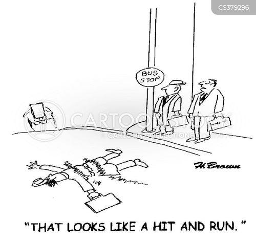 hit and runs cartoon