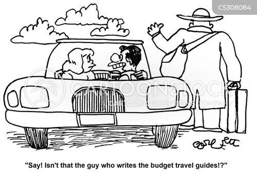 travel guide cartoon