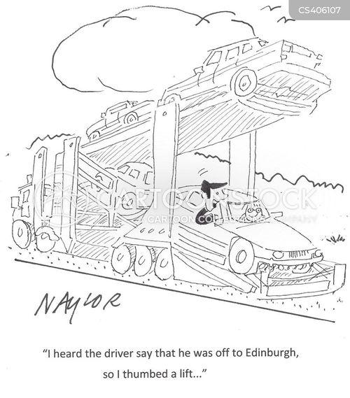 tow truck cartoon