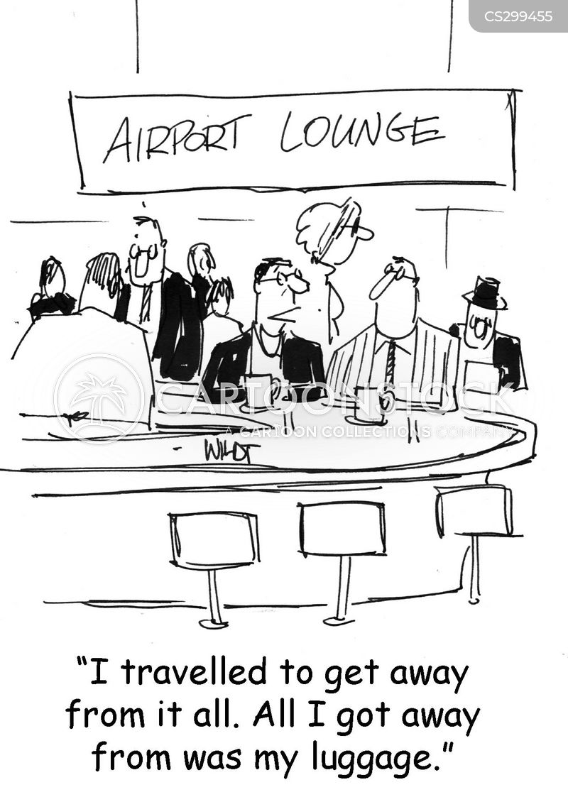 airport lounges cartoon