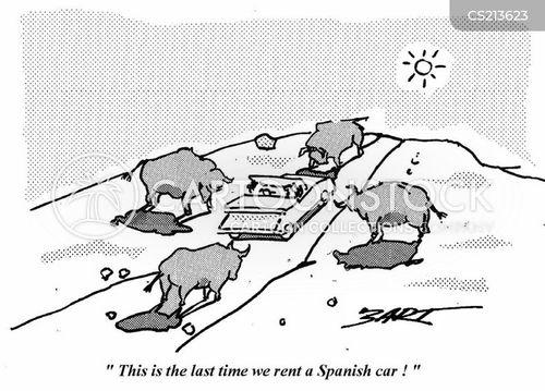 spanish cars cartoon