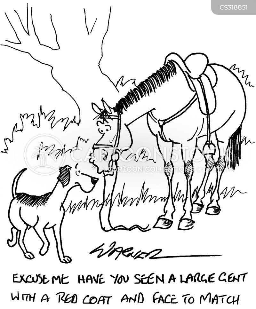 fox-hunt cartoon