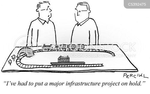 model trains cartoon