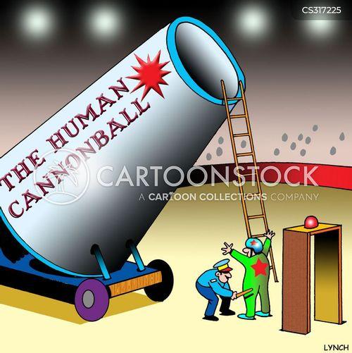 human cannonballs cartoon
