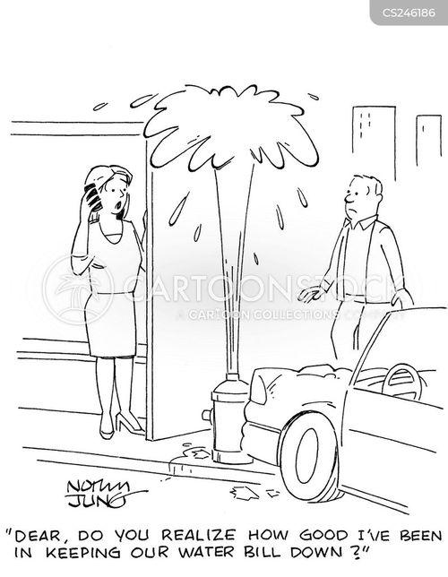 water bill cartoon