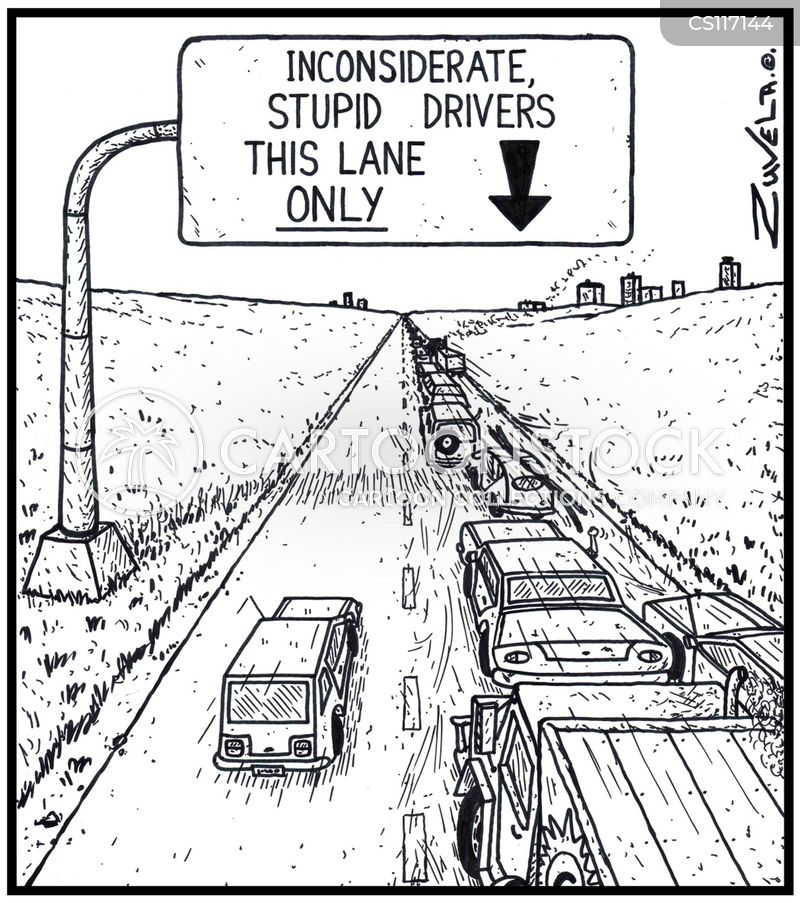 Bad Driving Cartoon 7 of 31