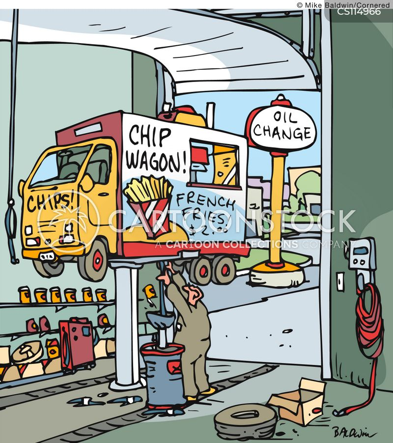 oil-changes cartoon