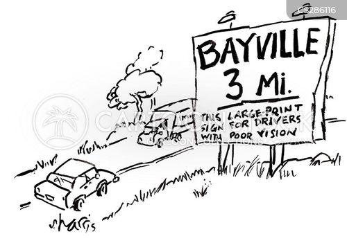 large print cartoon
