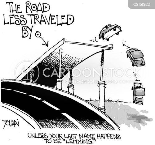 road less travelled cartoon
