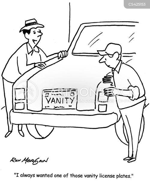 license plate cartoon