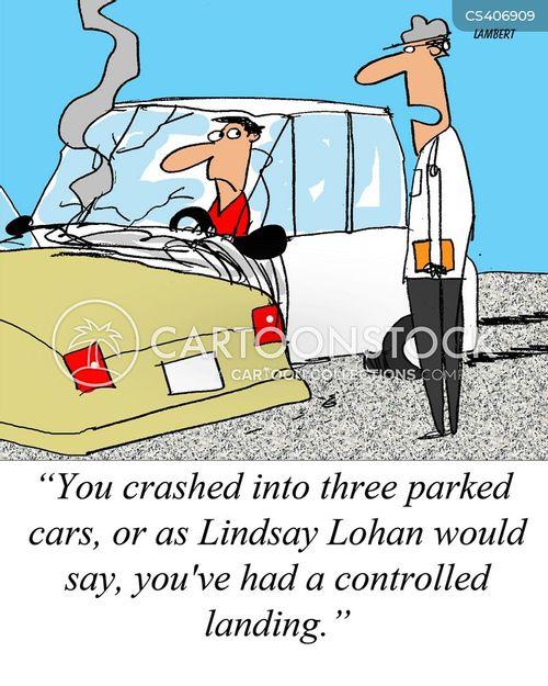 car collision cartoon