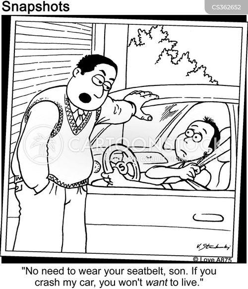 seatbelt cartoon