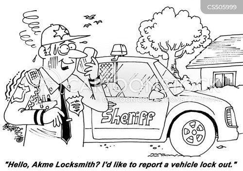 lock out cartoon