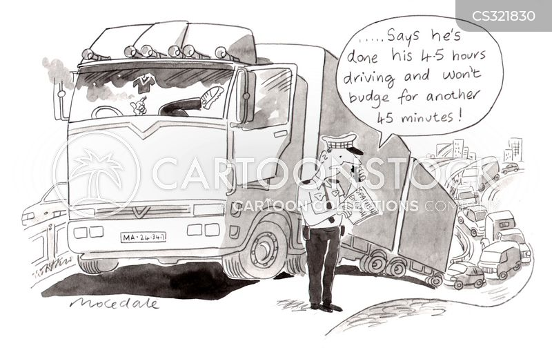 lorry drivers cartoon