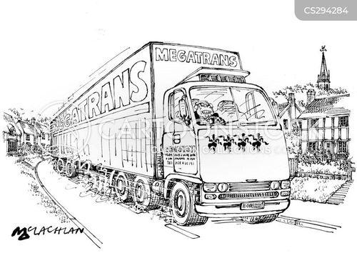 long vehicle cartoon