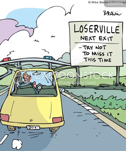 highway signs cartoon