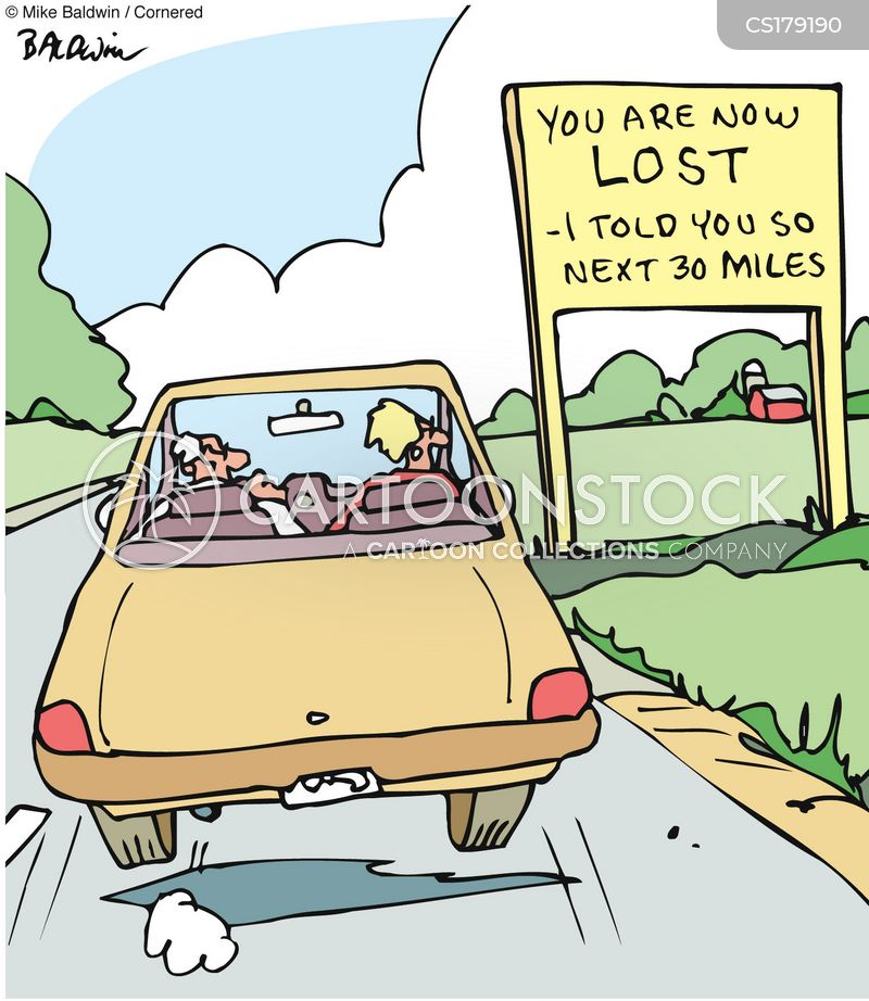 backseat driver cartoon