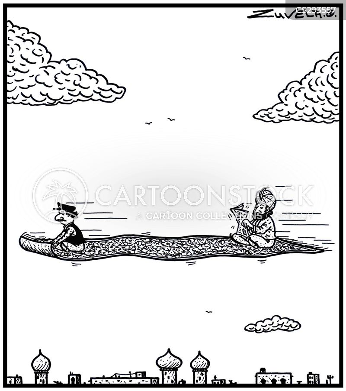 flying carpet cartoon