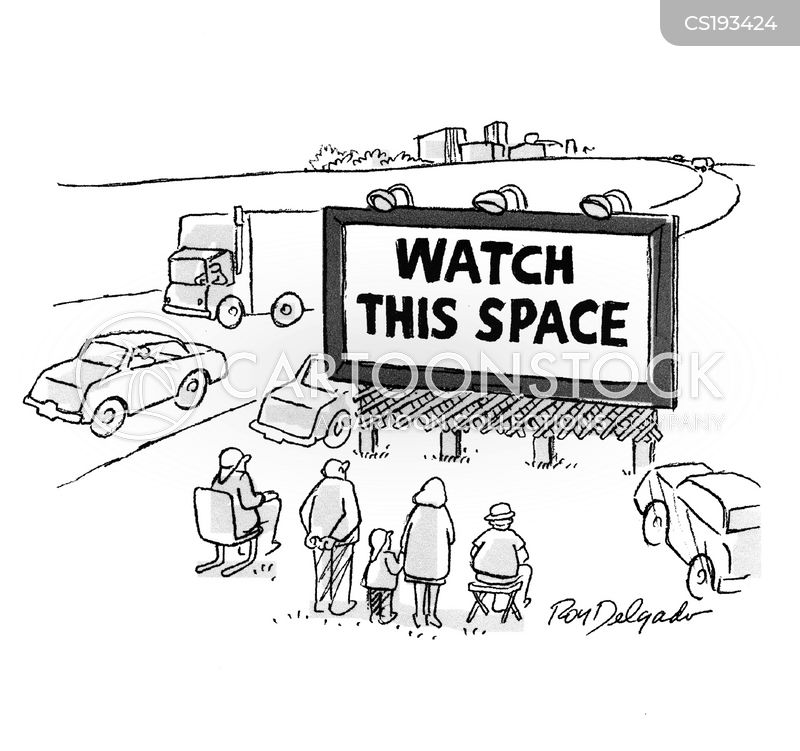 billboard advertising cartoon