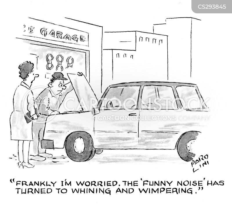 car repairs garage cartoon