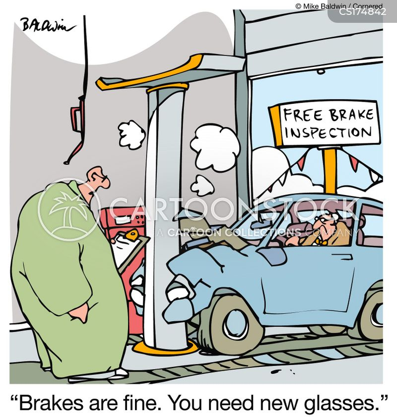 braking cartoon