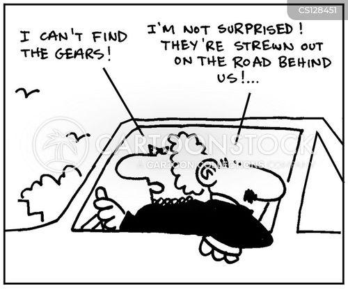 back seat drivers cartoon