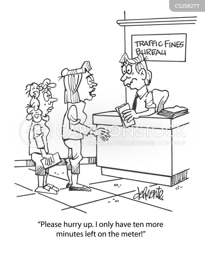 traffic fines cartoon