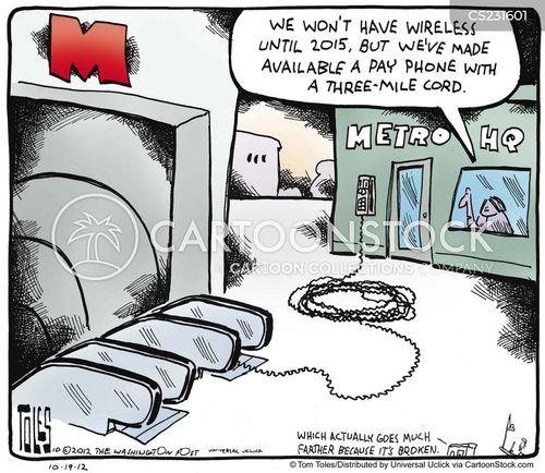 public transports cartoon