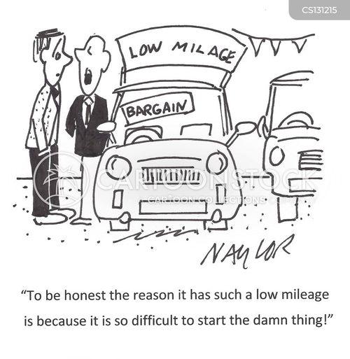 low mileage cartoon