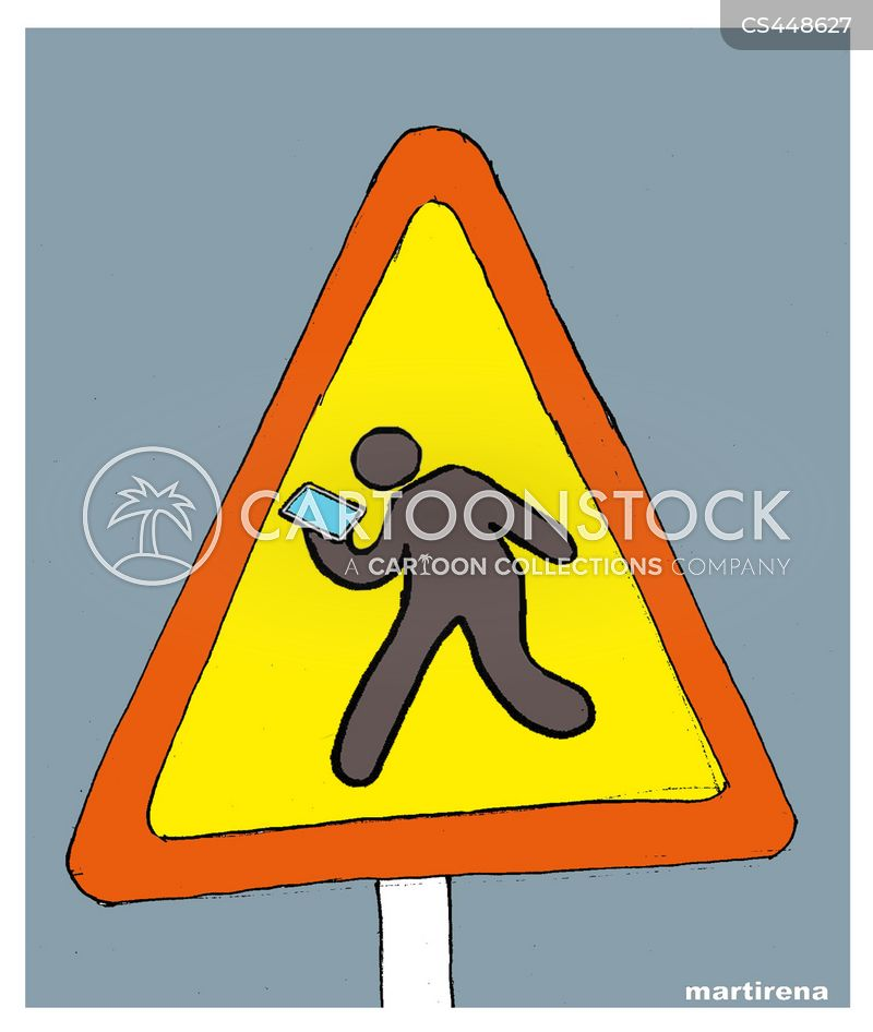 caution signs cartoon